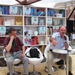 На встрече  журнала Подъём с читателями гл.редактор И.А. Щелоков (справа) и заместитель главного редактора В.Д. Лютый