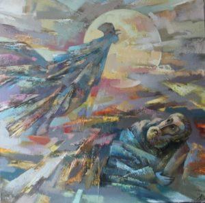 Из холста и кистей смастерил себе крылья